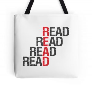 Dana and the Books Shop - Read Read Read Read Tote Bag