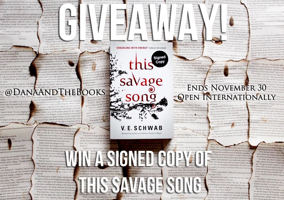 This Savage Song Giveaway - VE Schwab